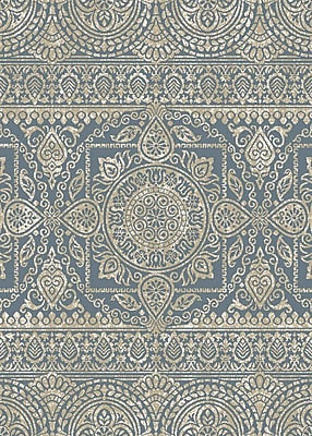 Bungalow Rose Markus Blue Area Rug; 8' x 10'
