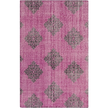 Bungalow Rose Ritesh Medallion Magenta Area Rug; 2' x 3'