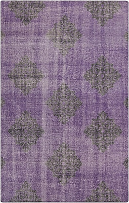 Bungalow Rose Ritesh Damask Violet Area Rug; 8' x 11'