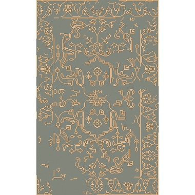 Bungalow Rose Pittsford Beige/Moss Area Rug; 5' x 8'
