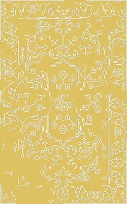 Bungalow Rose Pittsford Yellow Area Rug; 3'3'' x 5'3''