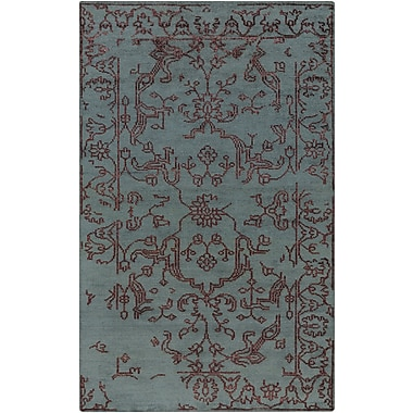 Bungalow Rose Pittsford Eggplant/Teal Area Rug; 5' x 8'