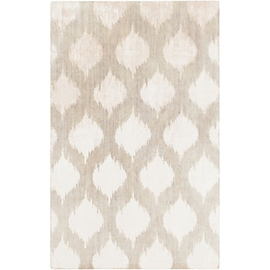 Bungalow Rose Norwell Light Gray Chic Area Rug; 5' x 8'