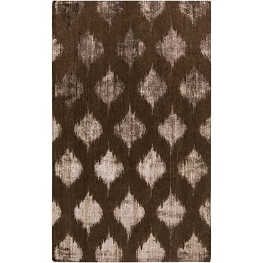 Bungalow Rose Norwell Chocolate Area Rug; Runner 2'6'' x 10'