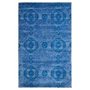 Bungalow Rose Kouerga Blue Area Rug; 6' x 9'