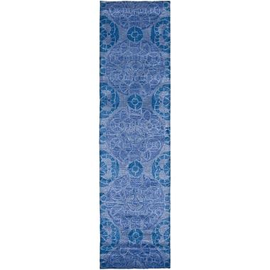 Bungalow Rose Kouerga Blue Area Rug; Runner 2'3'' x 15'