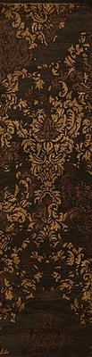 Bungalow Rose Bower Hand-Tufted Espresso Area Rug; Runner 2'6'' x 8'