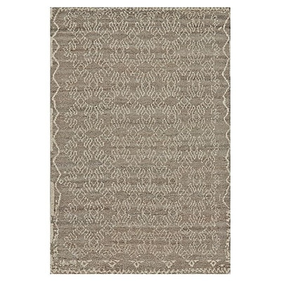 Bungalow Rose Darcy Hand-Knotted Natural/Graphite Area Rug; 4' x 6'