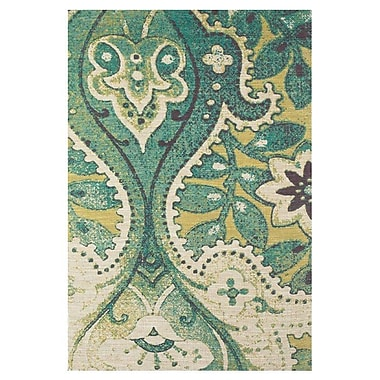 Bungalow Rose Chase Hand-Loomed Teal/Green Area Rug; 5' x 8'