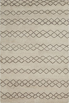 Bungalow Rose Falmouth Hand-Knotted Natural/Cashmere Area Rug; 9'6'' x 13'6''