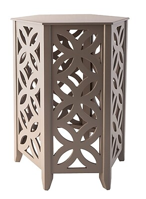 Bungalow Rose Hyannis End Table; Cool Gray