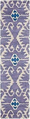 Bungalow Rose Kouerga Lavender Area Rug; Runner 2'3'' x 9'
