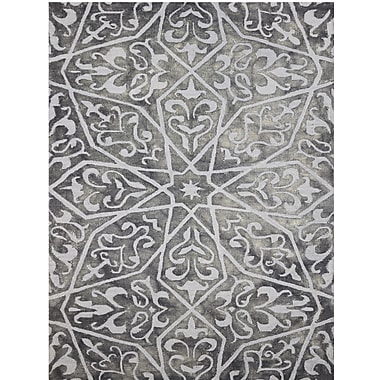 Bungalow Rose Julio Hand-Tufted Gray Area Rug; 8' x 11'