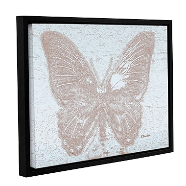 Bungalow Rose 'Lacey Butterfly 1' Framed Graphic Art Print on Canvas; 18'' H x 24'' W x 2'' D