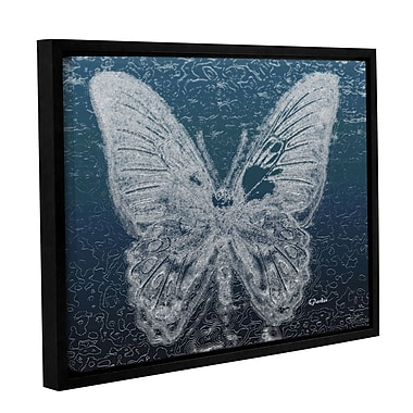 Bungalow Rose 'Lacey Butterfly 2' Framed Graphic Art Print on Canvas; 8'' H x 10'' W x 2'' D