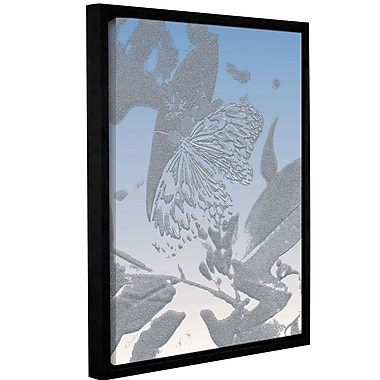 Bungalow Rose 'Morning Butterfly' Framed Graphic Art Print on Canvas; 18'' H x 14'' W x 2'' D