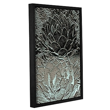 Bungalow Rose 'Two Perry Agaves' Framed Graphic Art Print on Canvas; 18'' H x 12'' W x 2'' D