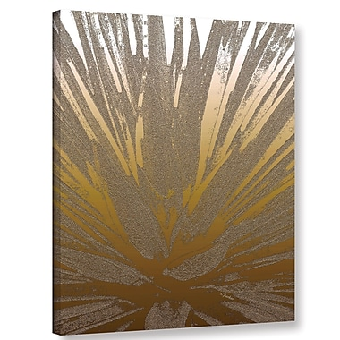 Bungalow Rose 'Modern Agave Gold' Graphic Art Print on Canvas; 10'' H x 8'' W x 2'' D