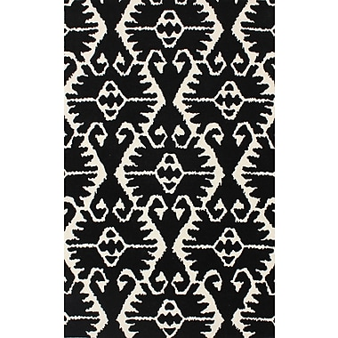 Bungalow Rose Kouerga Black & Ivory Area Rug; 4' x 6'