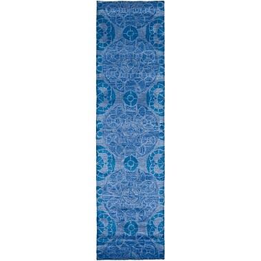 Bungalow Rose Kouerga Blue Rug; Runner 2'3'' x 9'