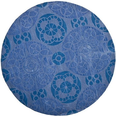 Bungalow Rose Kouerga Blue Rug; Round 7'