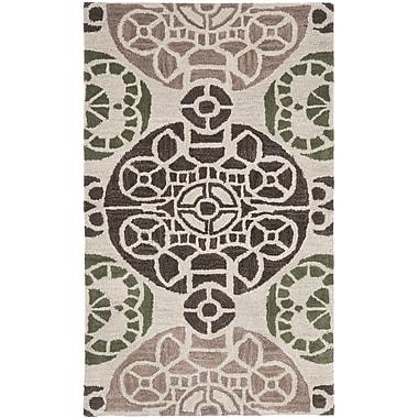 Bungalow Rose Kouerga Ivory / Brown Rug; 5' x 8'