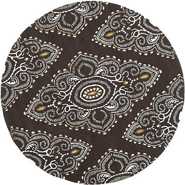 Bungalow Rose Kouerga Brown / Ivory Rug; Round 7'