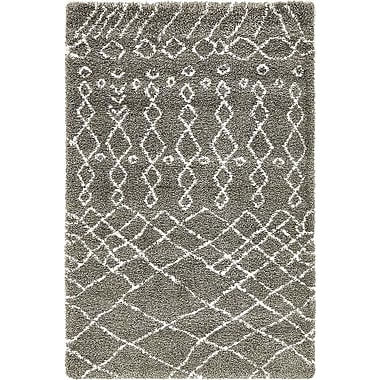Bungalow Rose Bourne Machine woven Gray Area Rug; 5' x 8'