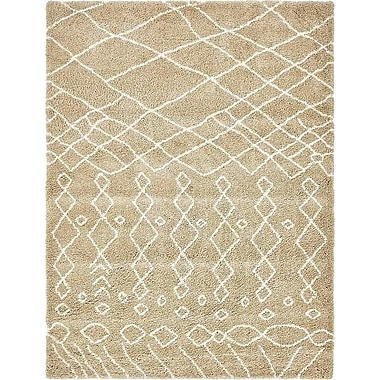 Bungalow Rose Bourne Machine woven Taupe Area Rug; 9' x 12'