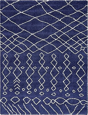 Bungalow Rose Bourne Machine woven Navy Blue Area Rug; 9' x 12'