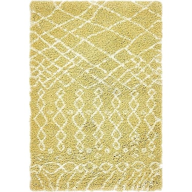 Bungalow Rose Bourne Yellow Area Rug; 4' x 6'