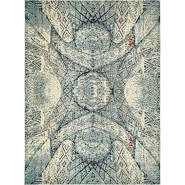 World Menagerie Newton Stain Resistant Blue Area Rug; 9' x 12'