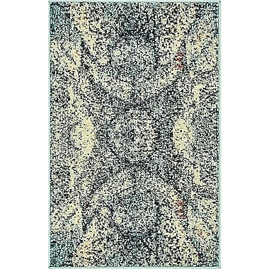World Menagerie Newton Stain Resistant Blue Area Rug; 2'2'' x 3'
