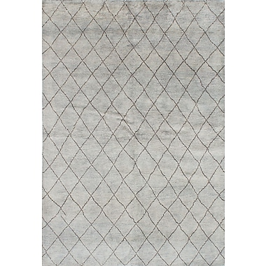 Bungalow Rose Bridgewater Hand-Knotted Light Blue Area Rug
