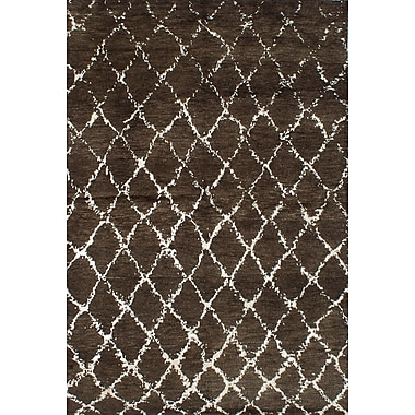 Bungalow Rose Bridgewater Hand-Knotted Dark Green Area Rug