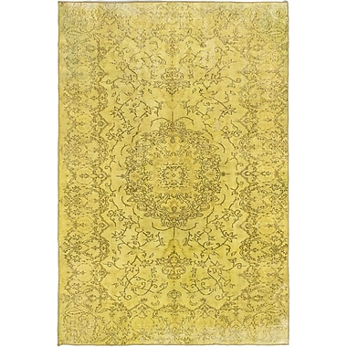Bungalow Rose Brockton Hand-Knotted Light Yellow Area Rug