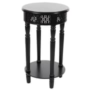 Bungalow Rose Reese Wooden End Table; Black