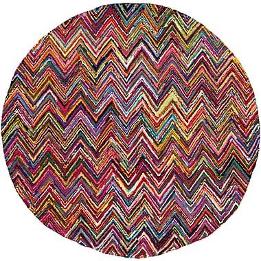 Bungalow Rose Tousana Handmade Magenta Area Rug; 5'6'' x 8'6''