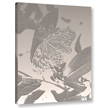 Bungalow Rose 'Midnight Butterfly 2' Graphic Art Print on Canvas; 32'' H x 24'' W x 2'' D