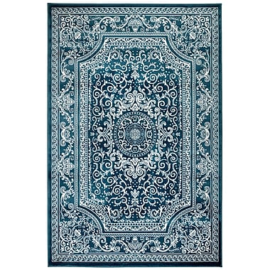 Bungalow Rose Davis Blue Area Rug; Runner 2' x 7'