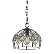 Bungalow Rose Dallas Crystal 1-Light Inverted Pendant