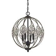Bungalow Rose Dallas Crystal 4-Light Globe Pendant