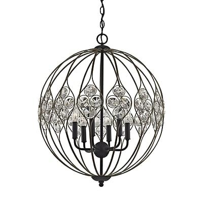 Bungalow Rose Dallas Crystal 6-Light Globe Pendant