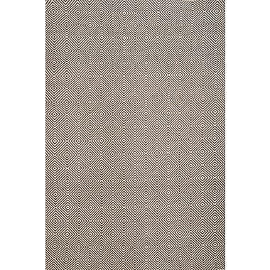 Bungalow Rose Bernardston Dark Brown/Ivory Rug; 5' x 8'