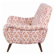 Bungalow Rose Blondell Tufted Ikat Armchair