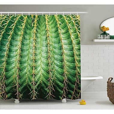 Ciara Photo of Cactus w/ Spikes Plant Flower Fruit From Close Zoom Shoot w/ Spikes Shower Curtain