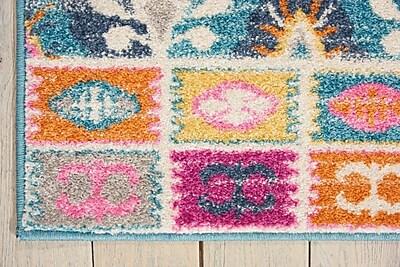 Mistana Parsons Pink/Blue Indoor Area Rug; 6'7'' x 9'6''