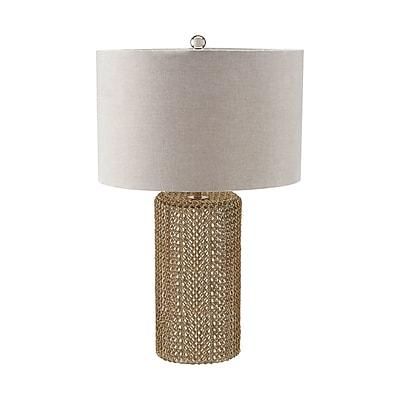 Bungalow Rose Hood Raindrop 24'' Table Lamp; LED
