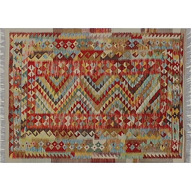 Bungalow Rose Cortez Kilim Hand-Woven Ivory Area Rug