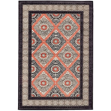 Bungalow Rose Kimberly Copper/Gray Area Rug; 5'3'' x 7'6''